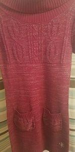 Cowl Neck Southpole Sweater Dress Sz M w Pockets!